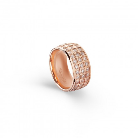 Tamaris Ring Alex 106833 Edelstahl Zirkonia rosegold