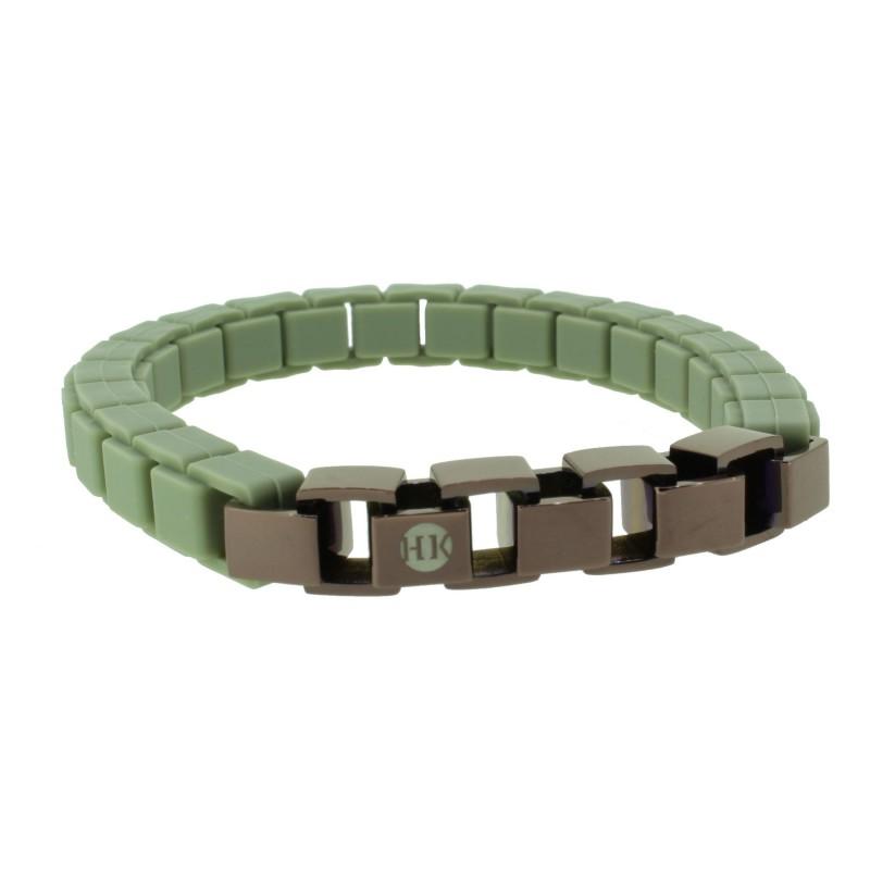 HANSE-KLUNKER FASHION Damen Armband 110475 Edelstahl pastelloliv bronze