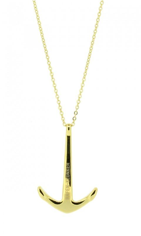 Kette Damen Mit Anker Anhänger Edelstahl Gold Matt Halskette (40+5 cm) Schmuck perfekt geeignet als Geschenk