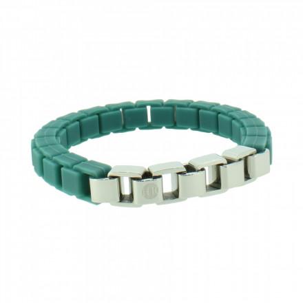 HANSE-KLUNKER FASHION Damen Armband 108002 Edelstahl türkisblau silber