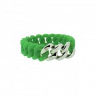 HANSE-KLUNKER MINI Damen Armband 107977 Edelstahl grün silber