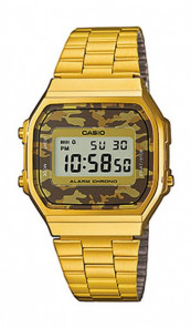 CASIO Retro Digitaluhr A168WEGC-5EF gold camouflage