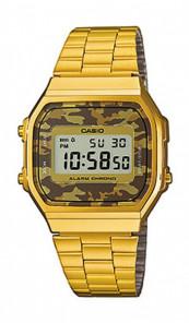 CASIO Retro Digitaluhr A168WEGC-5EF gold camouflage