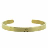 HAFEN-KLUNKER Glamour Collection Armreif Anker breit 108161 Edelstahl Gold