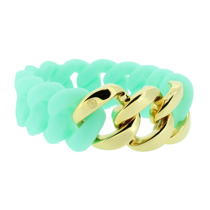 HANSE-KLUNKER ORIGINAL Damen Armband 106801 Edelstahl türkis gold