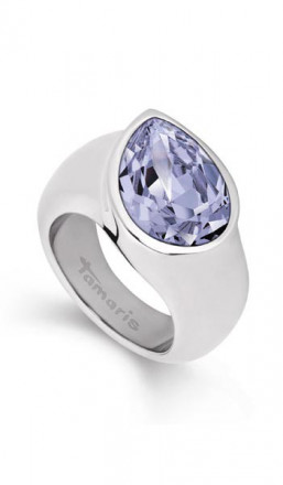 Tamaris Ring Amy 100488 Edelstahl Swarovski silber lila