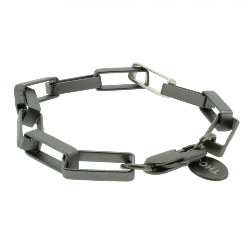 THO Herren Armband 107803 THO-AB004 Metal nickelfrei dunkelgrau