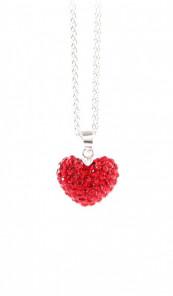 Crystal Line Anhänger TPAH108SW Herz Silber rot