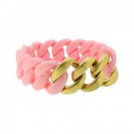 HANSE-KLUNKER ORIGINAL Damen Armband 107944 Edelstahl lachs gold matt