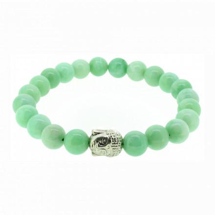 Silverart Buddha Armband 107864 FAB016 Jade hellgrün Metal nickelfrei versilbert