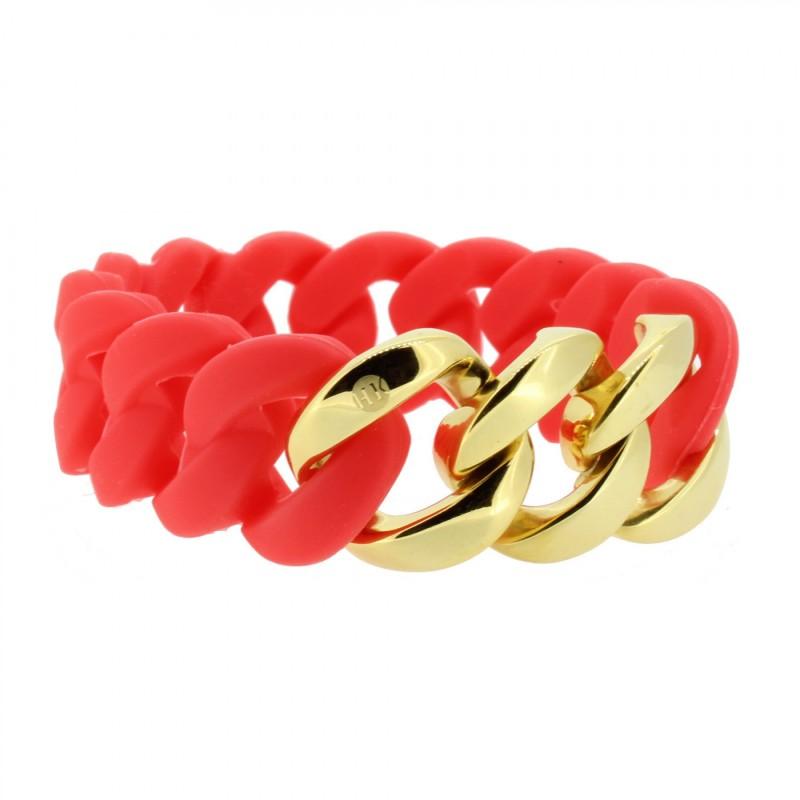 HANSE-KLUNKER ORIGINAL Damen Armband 106968 Edelstahl koralle gold