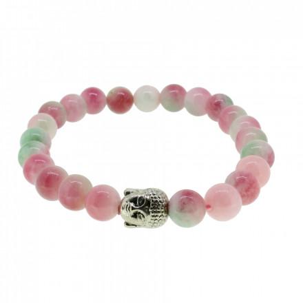 Silverart Buddha Armband 107874 FAB006 Achat rosa grün Metal nickelfrei versilbert