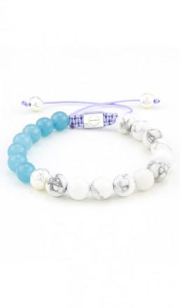 MARC SWAN Armband Shamballa Style 106482 blau weiss