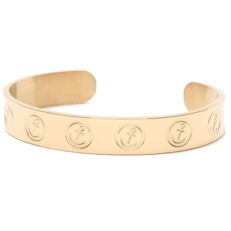 HAFEN-KLUNKER Glamour Collection Armreif Anker New York 110488 Edelstahl Gold
