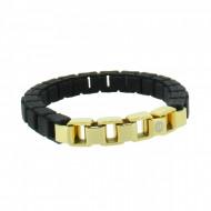 HANSE-KLUNKER FASHION Damen Armband 107995 Edelstahl schwarz gold