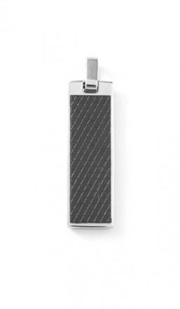 Grey Anhänger 100065 Edelstahl Emaille silber schwarz