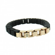 HANSE-KLUNKER FASHION Damen Armband 107994 Edelstahl schwarz rosegold