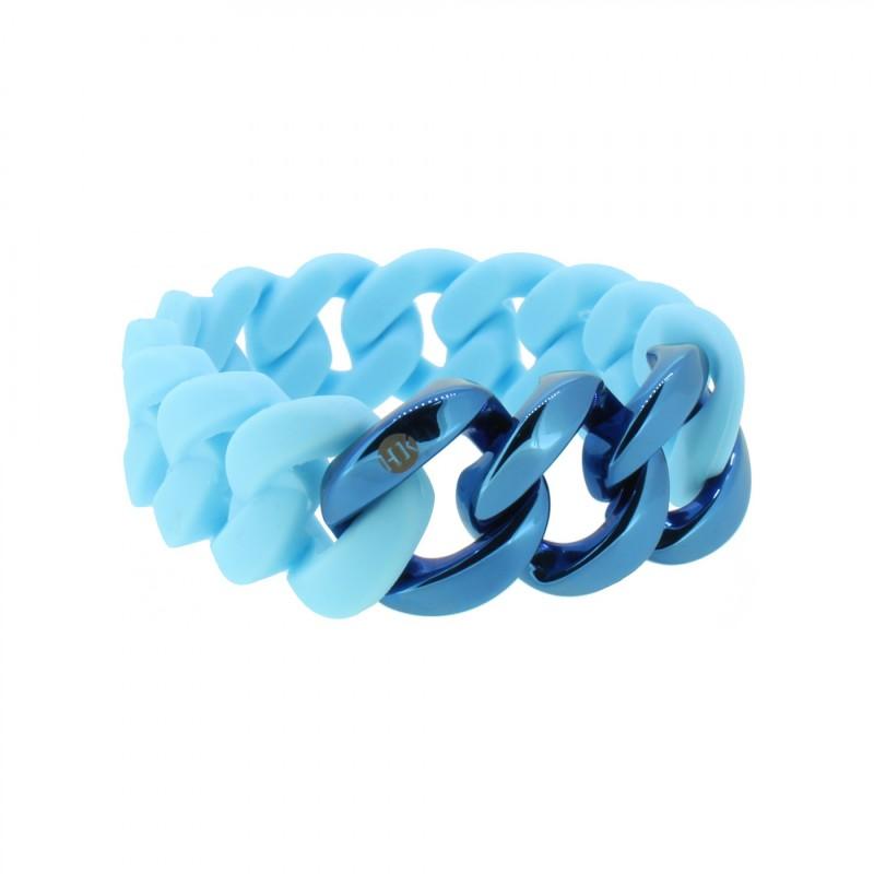 HANSE-KLUNKER ORIGINAL Damen Armband 107956 Edelstahl hellblau blau