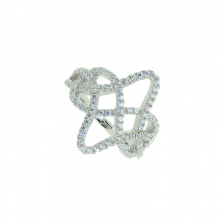 LOVELY SILVER Ring 107636 Silber 925 Zirkonia micro setting silber