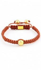 MARC SWAN Armband Shamballa Style 106481 braun gold