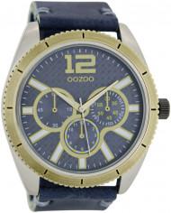 OOZOO Herrenuhr C6473 Leder blau