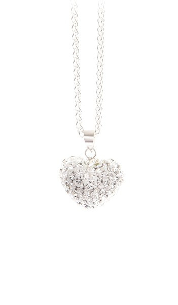 Crystal Line Anhänger TPAH108SW Herz Silber weiss