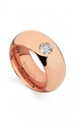 Tamaris Ring Kate 100404 Edelstahl Zirkonia rosegold