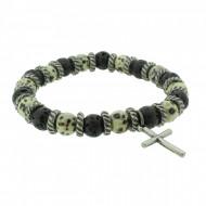THO Herren Armband Kreuz 107809 THO-AB009 Metal nickelfrei grau schwarz