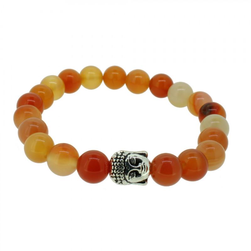 Silverart Buddha Armband 108078 FAB072 Achat orange Metal nickelfrei versilbert