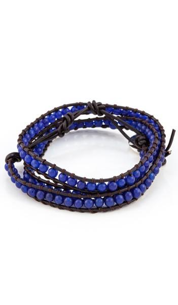 MARC SWAN Wickelarmband 100148 Leder blau braun