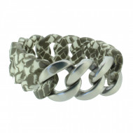 HANSE-KLUNKER ORIGINAL Damen Armband 107412 Edelstahl schlange silber matt