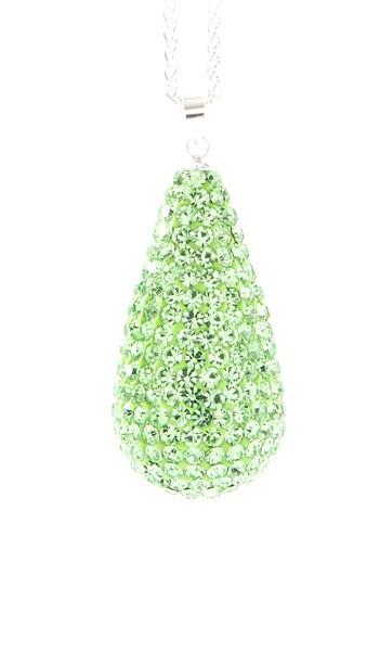 Crystal Line Anhänger TPAH111SW Tropfen Silber grün