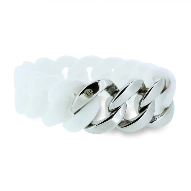 HANSE-KLUNKER ORIGINAL Damen Armband 106892 Edelstahl weiss silber
