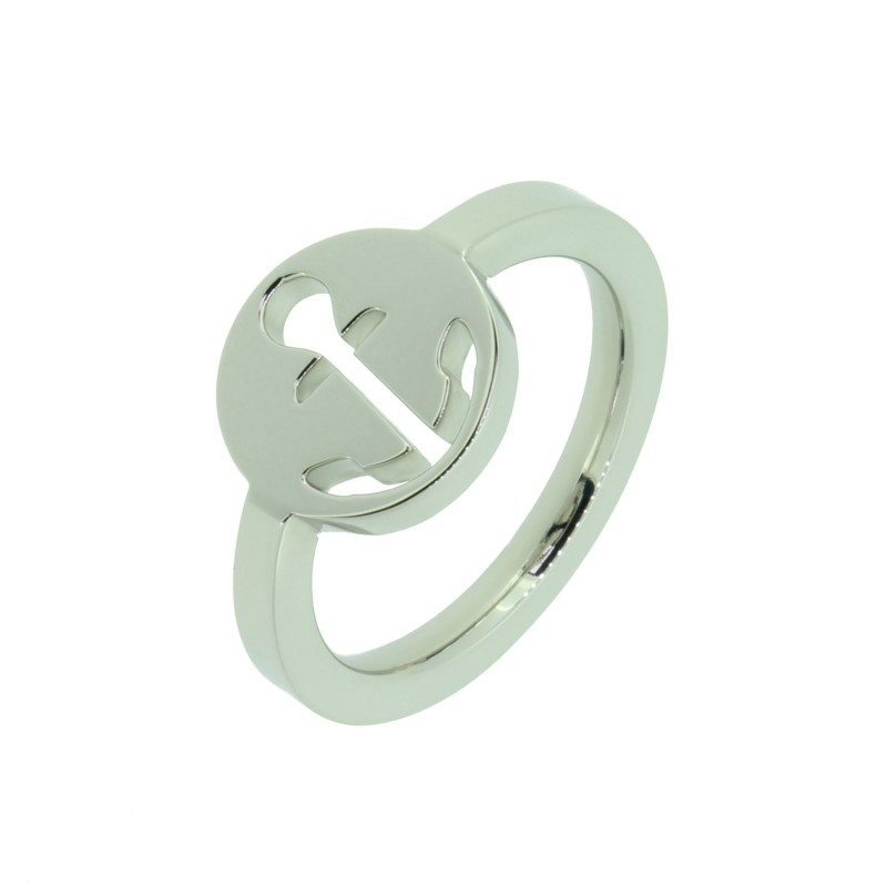 HAFEN-KLUNKER Glamour Collection Ring Anker ausgestanzt 110520 Edelstahl Silber