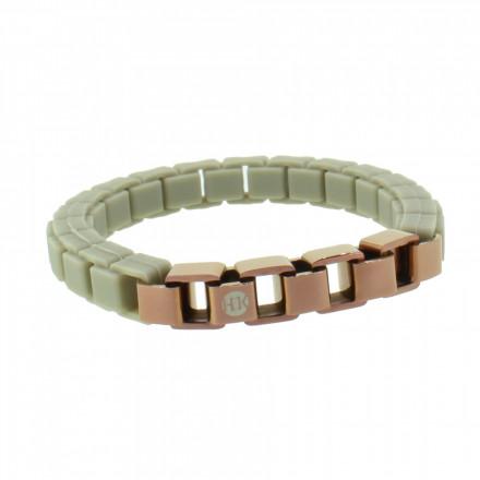 HANSE-KLUNKER FASHION Damen Armband 108010 Edelstahl graubeige bronze