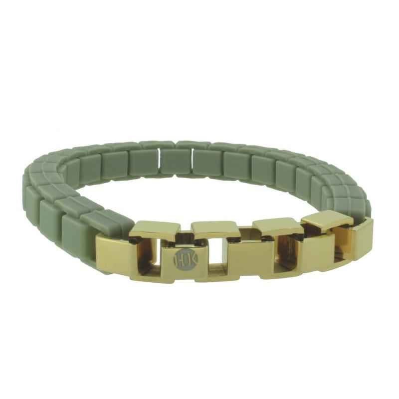 HANSE-KLUNKER FASHION Damen Armband 110474 Edelstahl pastelloliv gold