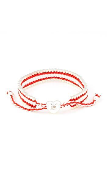 I Love Berlin Armband 106425 Herz rot weiss