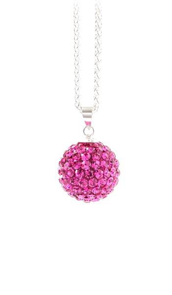 Crystal Line Anhänger TPAH109SW Kugel klein Silber pink