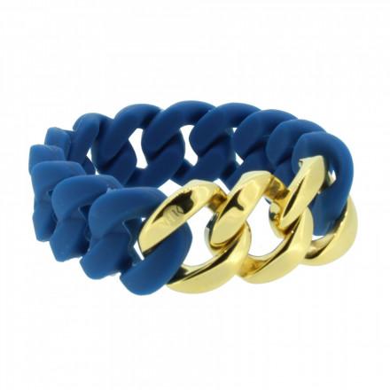 HANSE-KLUNKER ORIGINAL Damen Armband 107024 Edelstahl petrol gold