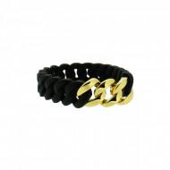 HANSE-KLUNKER MINI Damen Armband 107962 Edelstahl schwarz gold