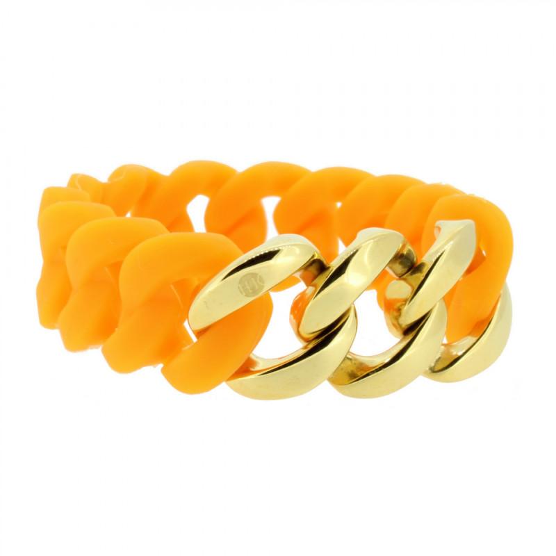 HANSE-KLUNKER ORIGINAL Damen Armband 106797 Edelstahl orange gold