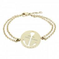 HAFEN-KLUNKER Glamour Collection Anker Armband 108036 Edelstahl Anker ausgestanzt rund rosegold