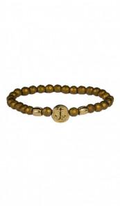 HAFEN-KLUNKER Anker Armband 107766 Edelstahl Hämatit gold vintage