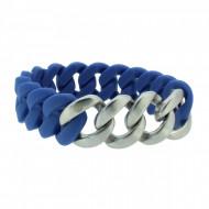 HANSE-KLUNKER ORIGINAL Herren Armband 107415 Edelstahl blau silber matt