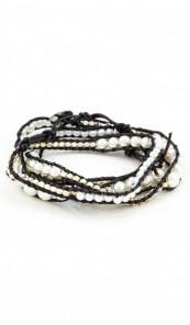 MARC SWAN Wickelarmband 100147 Leder silber