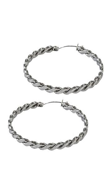 Grey Creolen GOR006 steel Edelstahl silber