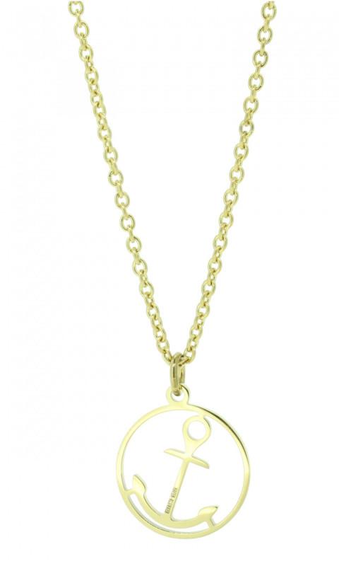 HAFEN-KLUNKER Glamour Collection Halskette Anker 108047 Edelstahl Anker rund gold