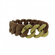 HANSE-KLUNKER ORIGINAL Damen Armband 107786 Edelstahl braun gold sandgestrahlt