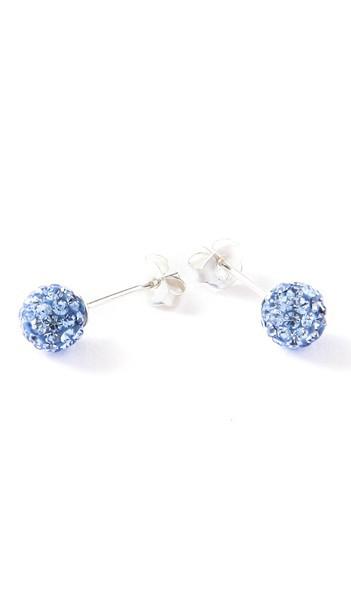 Crystal Line Ohrstecker TPOR102SW Kugel klein Silber blau