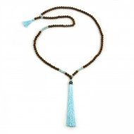 PEARL BAY Damen Perlenkette 107598 Quaste Jade Stein braun türkis